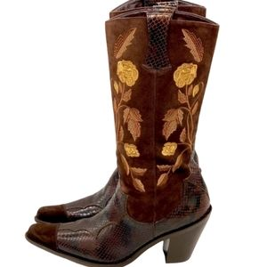 Antonio Melani Justine Leather Cowgirl Boots
